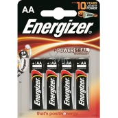 Energizer Battery AA LR6 1.5V 4 pieces