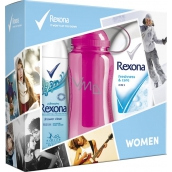 Rexona Freshness & Care Shower Gel 250 ml + Shower Fresh Clean dedorant spray 150 ml + 500 ml bottle sports ladies Cartridge