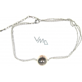 Silver Jewelery Silver necklace with 44cm ball pendant
