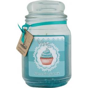 Bohemia Gifts & Cosmetics Narozeninový dortík dárková vonná svíčka ve skle doba hoření 105-120 hodin 510 g