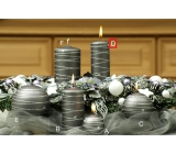 Lima Galaxy candle gray cylinder 50 x 170 mm 1 piece