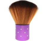 Cosmetic powder brush purple handle 7 cm 30450