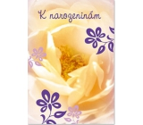 Ditipo Playing Birthday Card Yellow Flower No Name Water Lily 224 x 157 mm