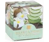 Heart & Home Soothing aloe Soy scented candle without packaging burns for up to 15 hours 53 g
