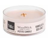 WoodWick Vanilla & Sea Salt  - Vanilka a mořská sůl vonná svíčka s dřevěným knotem sklo petite 31 g