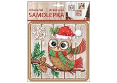 Plastic sticker 23x18 cm, owl 10354 7756