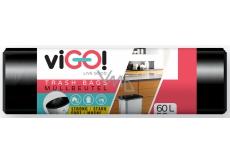 viGO! Black waste bag 60 liters 60 x 70 cm 50 pieces
