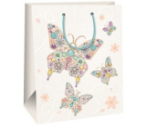 Gift bag AB big white with butterflies