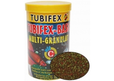 Tubifex Basic Multi Granulat full-feed food for aquarium fish staying at the bottom of the aquarium 125 ml