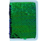 Albi Diary 2020 mini Green sequin 11 x 7.5 x 1 cm