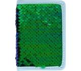 Albi Diary 2020 mini Green sequin 11 x 7.5 x 1 cm