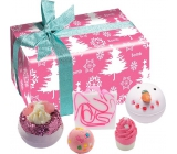 Bomb Cosmetics Dreaming of a Pink Christmas Ballistik 2x160 g + block 50 g + ball 30 g + soap 100 g, cosmetic set