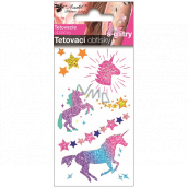 Colored tattoo decals with glitter for children Unicorns 10.5 x 6 cm