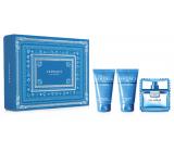 Versace Eau Fraiche Man Eau de Toilette 50 ml + shower gel 50 ml + aftershave 50 ml, gift set for men