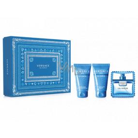 Versace Eau Fraiche Man Eau de Toilette for Men 50 ml + shower gel 50 ml + aftershave 50 ml, gift set