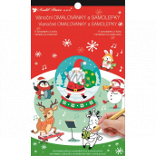 Christmas stickers and coloring book Santa 14 x 23 cm