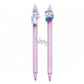 Colorino Rubber pen Unicorn purple, blue refill 0.5 mm 1 piece