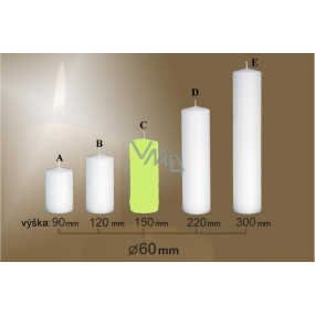 Lima Candle smooth light green cylinder 60 x 150 mm 1 piece