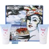 Moschino Funny! Eau de Toilette 4 ml + Body Lotion 25 ml + Shower Gel 25 ml, Gift Set