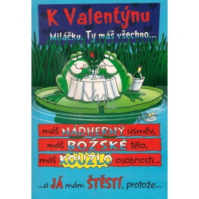 Ditipo Playing card for Valentine's Day Darling, you have everything melody 224 x 157 mm