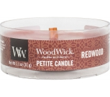 WoodWick Redwood - Sandal wood scented candle with wooden wick petite 31 g