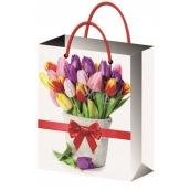 All-year gift bag L- tulips 32x26x12,7cm 12181 6842