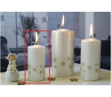 Lima Starlight candle white / golden cylinder 50 x 100 mm 1 piece