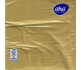 Aha Christmas paper napkins monochrome 3 ply 33 x 33 cm 20 pieces Gold