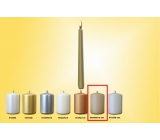 Lima Candle smooth metal beige cone 22 x 250 mm 1 piece