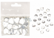 Adhesive hearts white 2 cm 20 pieces