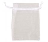 Organza bag white 9 x 12 cm