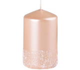 Emocio Frosted candle beige cylinder 60 x 100 mm