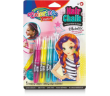 Colorino Colored chalks for hair metallic 5 colors 30 g