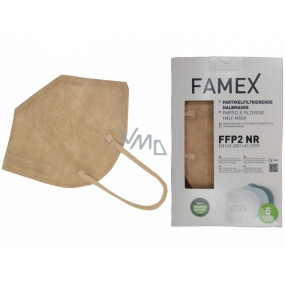 Famex Respirator oral protective 5-layer FFP2 face mask beige 1 piece