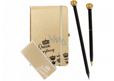 Albi Writing set Queen of Everything small notebook + pen + pencil + self-adhesive pad