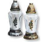 Rolchem Glass lamp with rose gold, silver 25 cm 32 hours 70 g Z-26 1 piece