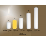 Lima Candle smooth yellow cylinder 60 x 120 mm 1 piece