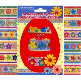 Foil for eggs flowers colored, 12 pieces in a package (shrink camisoles)