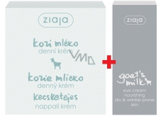 Ziaja Kozí mléko denní krém 50ml + Kozí mléko oční krém 15 ml, duopack