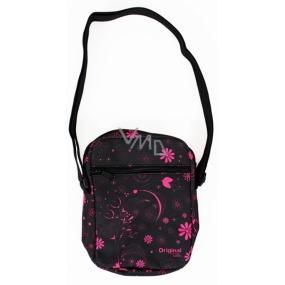 Albi Original Shoulder bag Pink flowers 17 x 23 x 5 cm