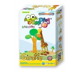 Jumping Clay Savana - Giraffe self-drying modeling mass 56 g + paper mock + plastic mold 5+