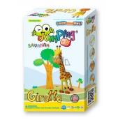 Jumping Clay Savana - Giraffe self-drying modeling clay 56 g + paper model + plastic box 5+