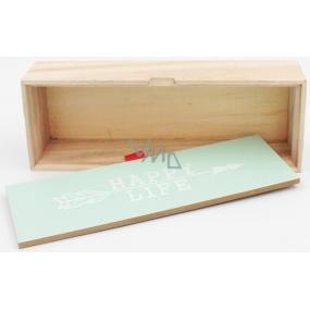 Nekupto Home Decor Wooden box Happy life 22 x 8 x 5 cm