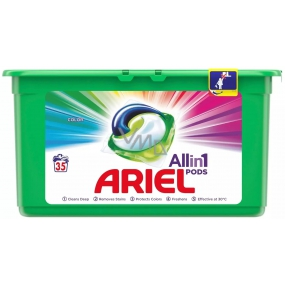 Ariel 3in1 Color Gel Caps for colored laundry protects and revives the colors of 35 pieces 945 g