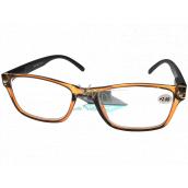 Berkeley Reading glasses +2.0 plastic transparent brown, black sides 1 piece MC2166