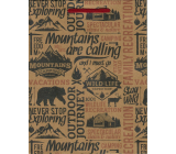 Nekupto Gift paper bag 24.5 x 19 x 8 cm Mountains 570 KHM