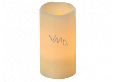 Emos LED candle lit amber, 7.5 x 15 cm