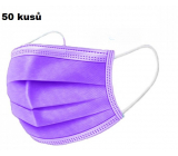 Shield Veil 3-layer protective medical non-woven disposable, low breathing resistance 50 pieces purple