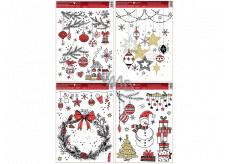 Color window foil Modern Christmas 30 x 42 cm mix of motifs
