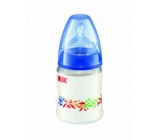 Nuk Bottle plastic teat silicone size M = milk 150 ml